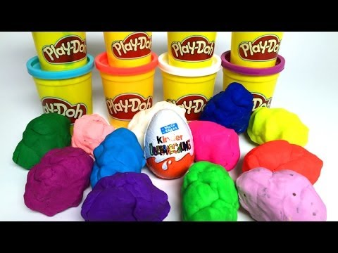 Play Doh Surprise Eggs kinder playdo eggs Huevos Sorpresa