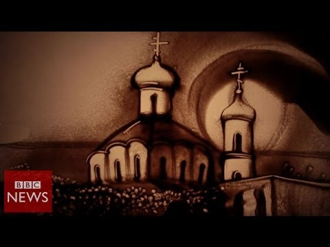 Crimean sand artist troubled by violence