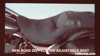 New 2014 Harley Davidson Air Zeppelin Motorcycle Seat For