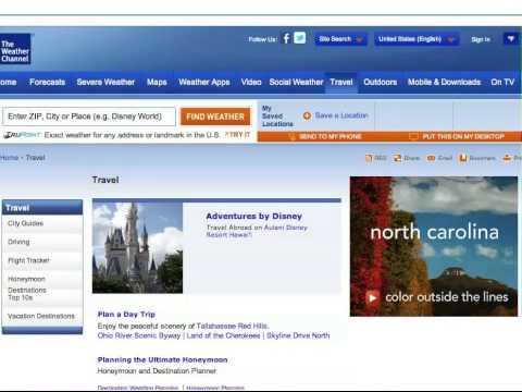 North Carolina Tourism - Zipline Banner