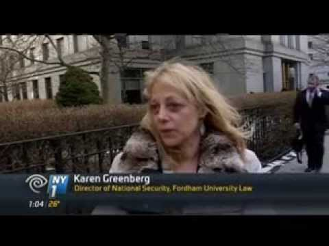 Fordham Law's Karen Greenberg comments on NY1 about Sulaiman Abu Ghaith