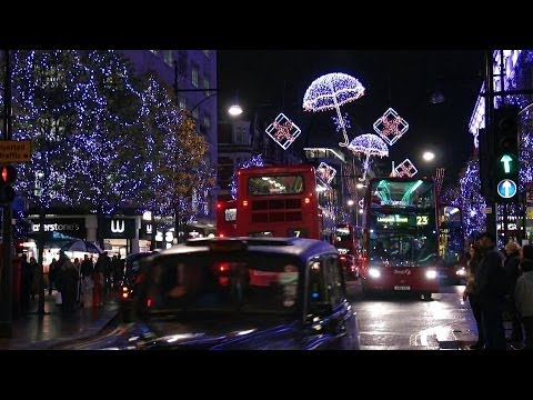 Christmas Lights and Decorations in London, UK