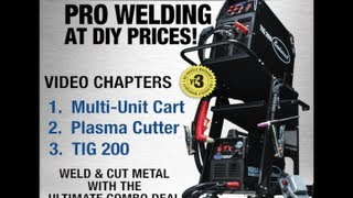 Welding Cart Combo With Cart, Plasma Cutter And TIG 200