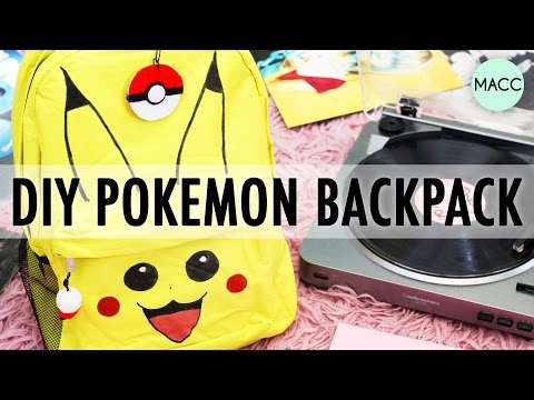 DIY Pikachu Pokemon Go Backpack