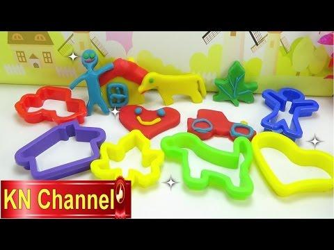 Đồ chơi trẻ em Bé Na nặn đất sét hình ngôi nhà Play doh Dog, house, car, people Childrens toys