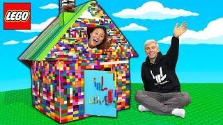 LEGO BOX FORT!! (MAYKA TOY BLOCK TAPE)