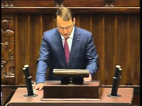 Radosław Sikorski - wystąpienie z 8 maja 2014 r.