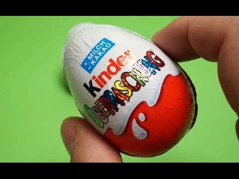 Trò chơi bóc trứng socola 2 quả trứng socola Kinder Surprise Eggs với quà tặng bất ngờ