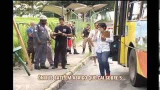 �nibus invade cal�ada e atropela pedestres em Santa Luzia
