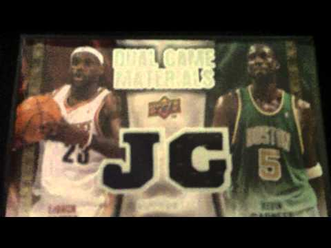 Lebron James Kevin Garnett Upper Deck Dual Game Materials jersey card