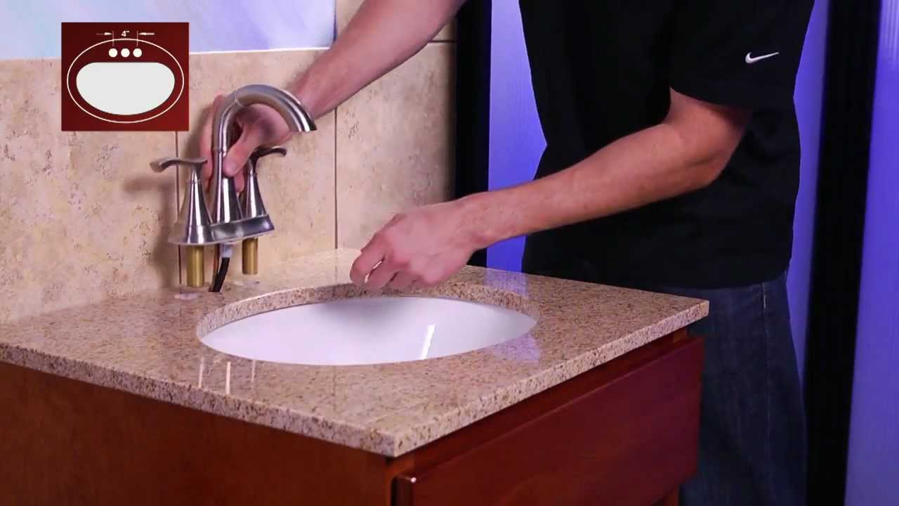 Installing A Pfister 4 Centerset Bathroom Faucet With Pull Out Sprayer Youtube