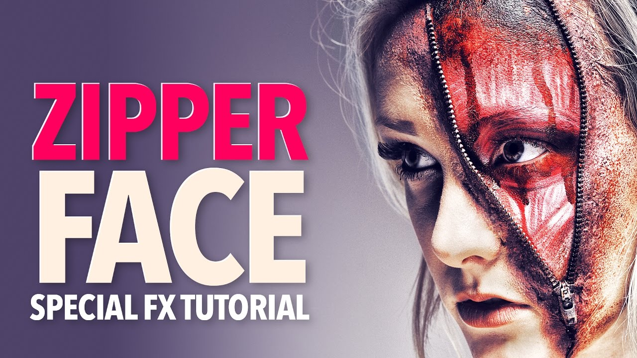Zipper Face Zombie Halloween Makeup Tutorial - YouTube