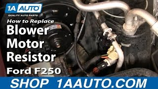 How To Install Replace Heater AC Fan Speed Resistor 99-07