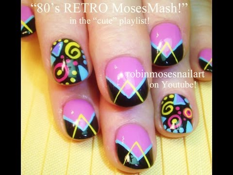 Cute Retro Nail Art 80's inspired