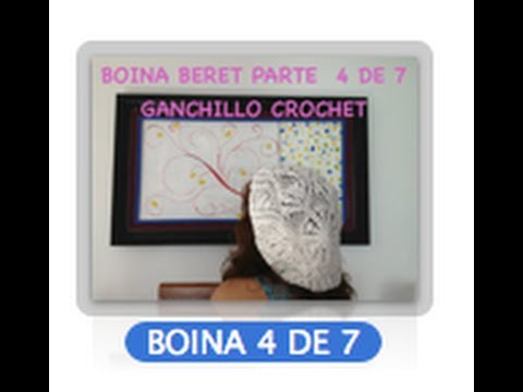 4 DE 7 COMO TEJER GORRO BOINA DISEO PIAS GANCHILLO CROCHET, DIY TUTORIAL