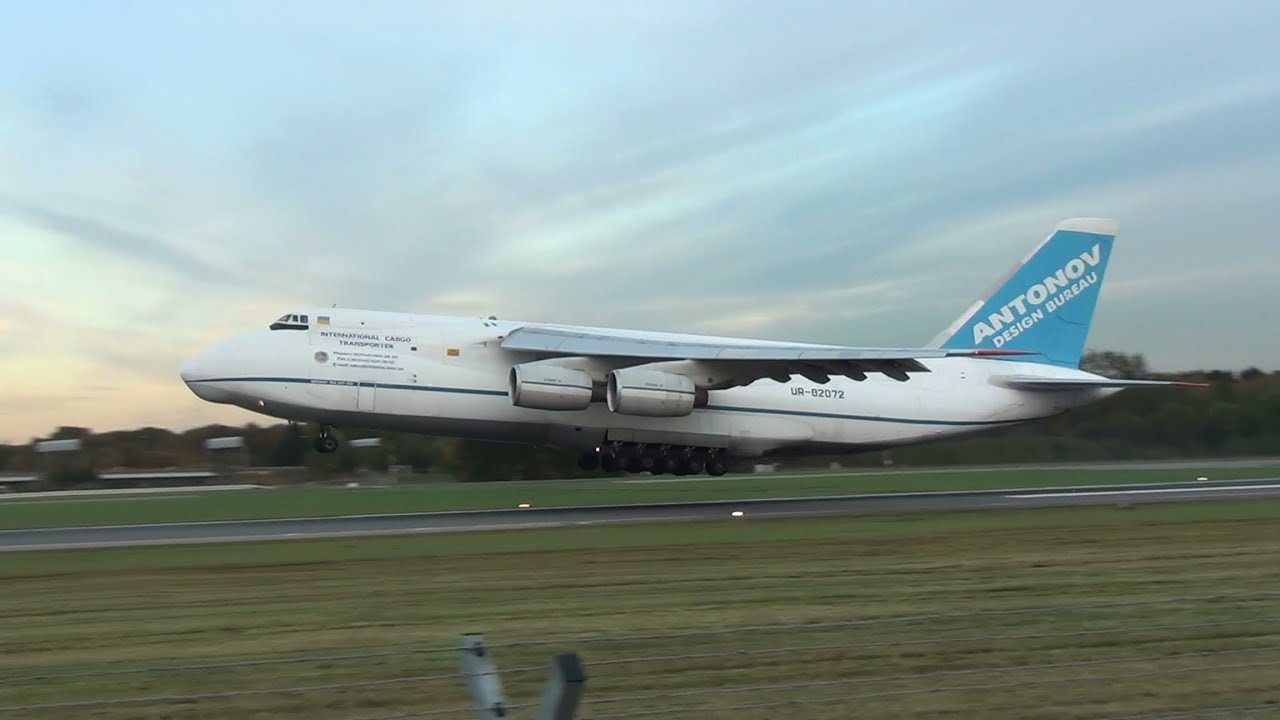 Antonov design bureau an 124 ur 82072 take off at hamburg for Bureau youtubeur