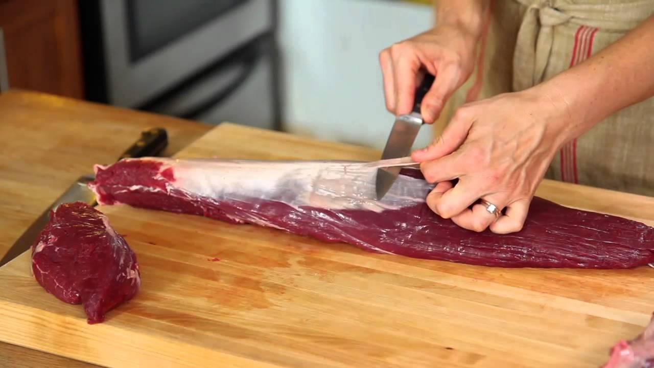 How To Trim Beef Tenderloin Into Filet Mignon Youtube