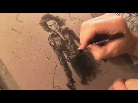 VBlog #9 Drawing Scarlett Johansson