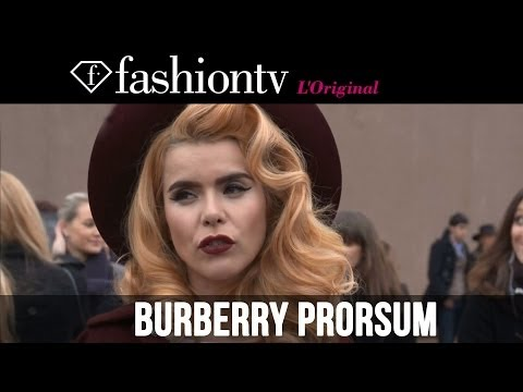 Cara Delevingne at Burberry Prorsum Fall/Winter 2014-15 | London Fashion Week LFW | FashionTV