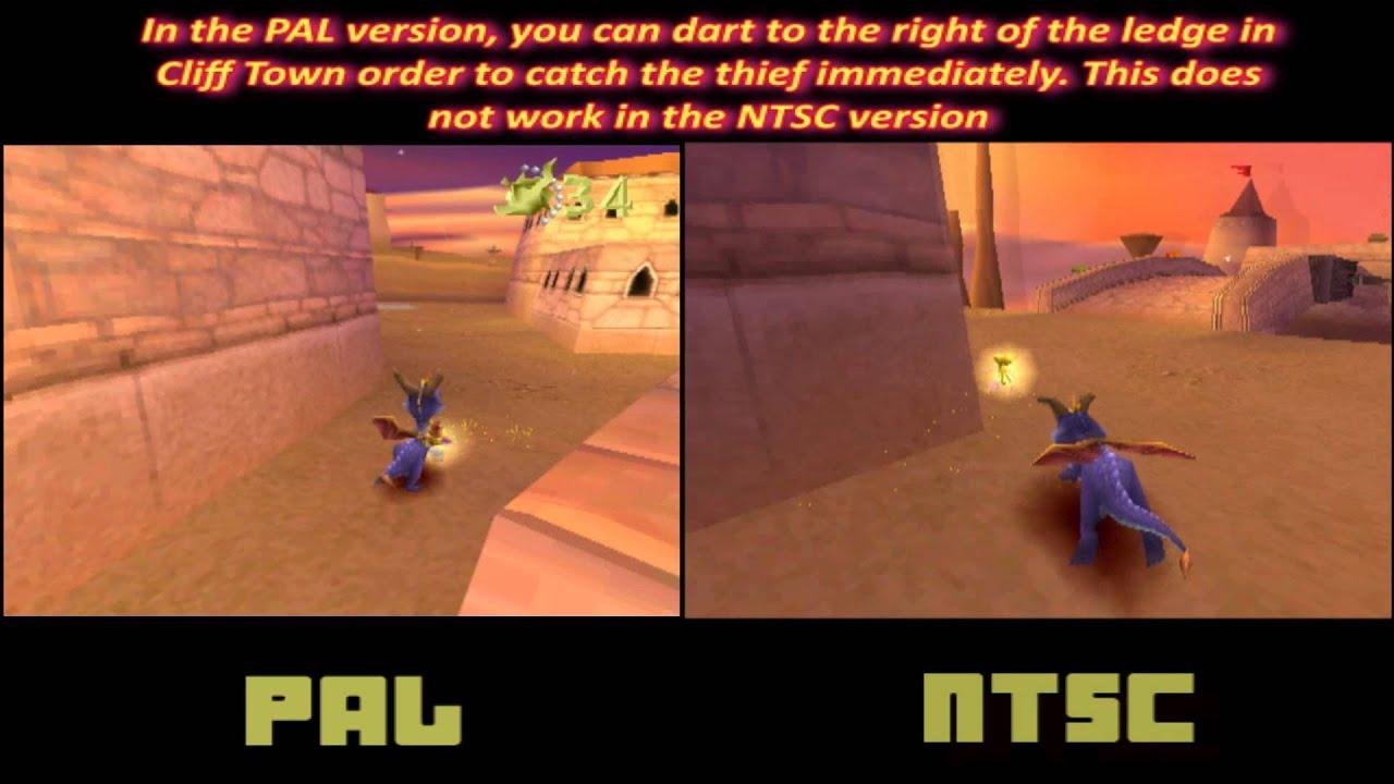 Spyro 1 pal vs ntsc version differences cliff town thief