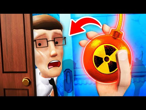 Creating A SECRET BOMB To DESTROY HOTEL MANAGER (Hotel R'n'R VR Funny Gameplay)