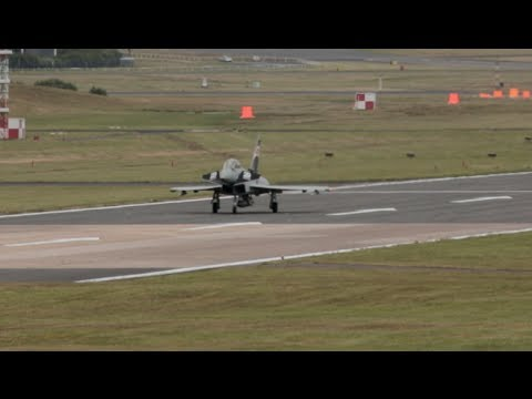 Typhoon landing after validation flight | Farnborough 2014