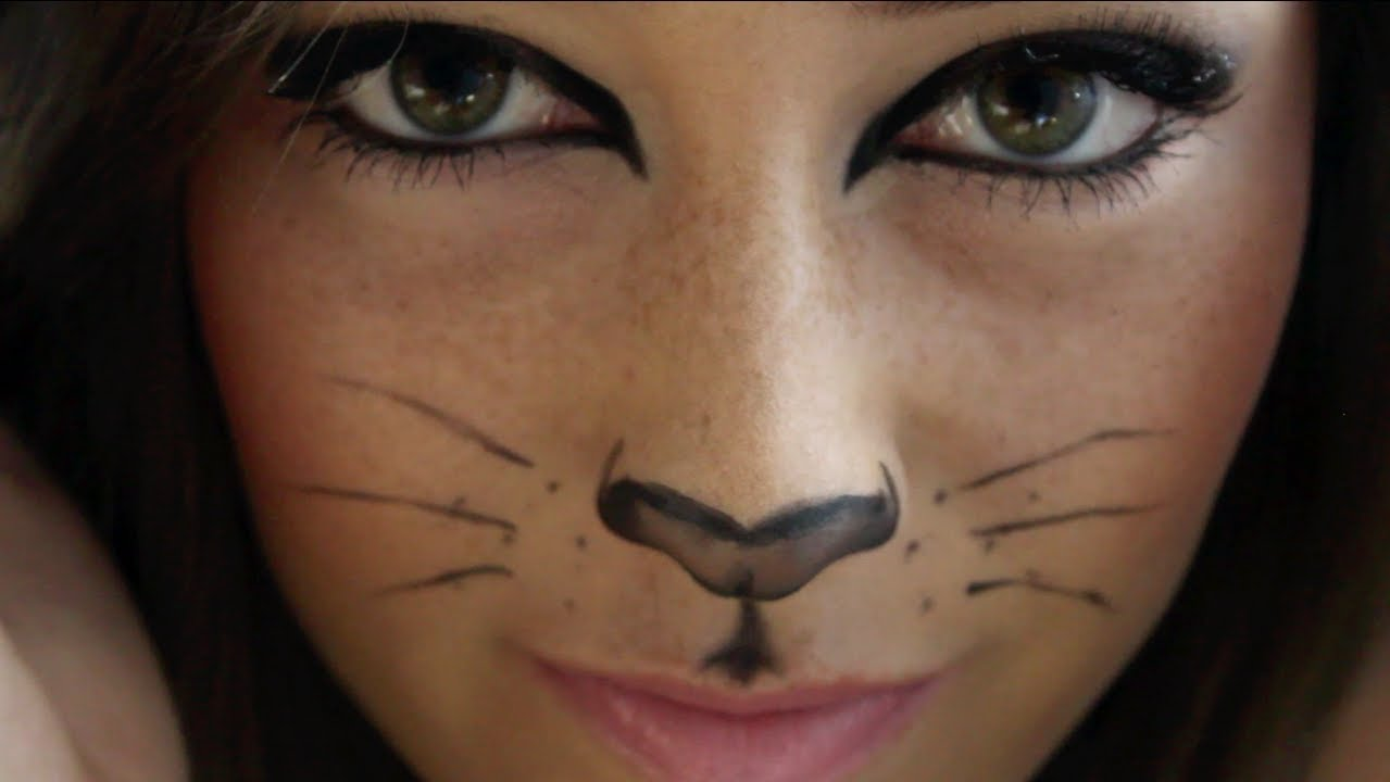 Cute Cat Whiskers Face Paint