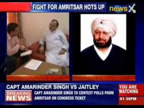 Congress fields Amrinder Singh against Arun Jaitely in Amritsar
