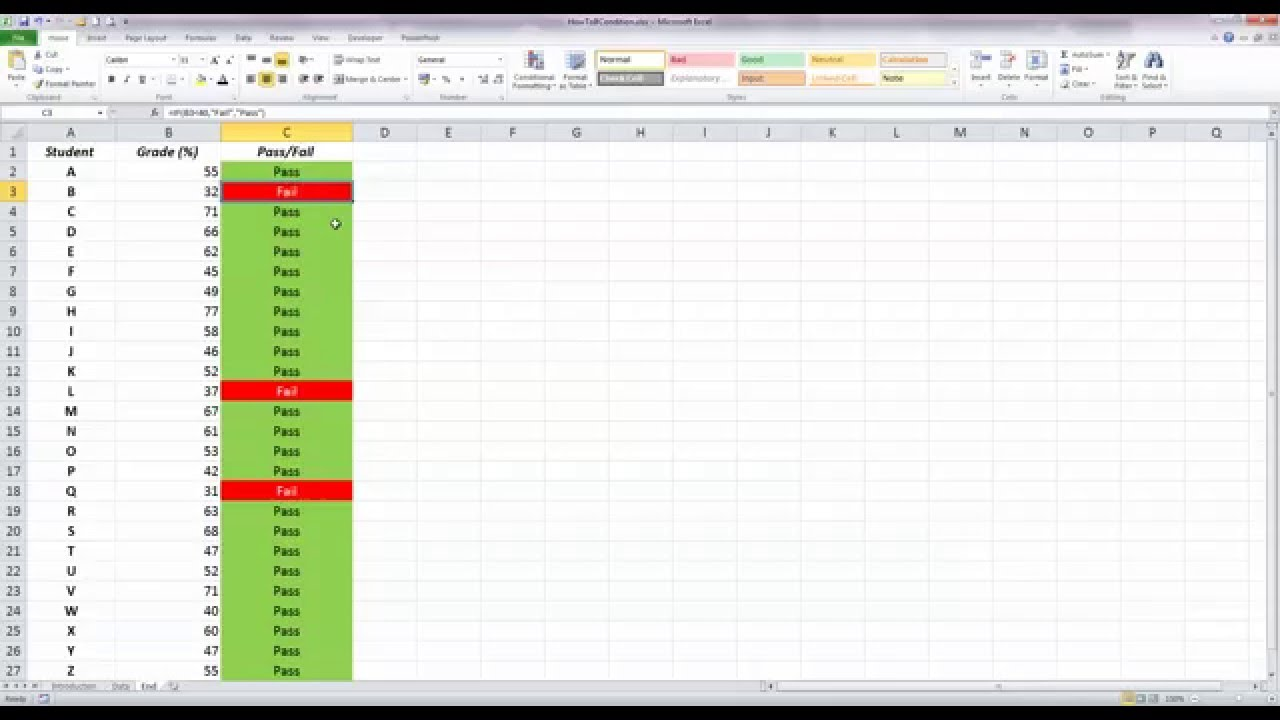 How To Use Basic Conditional Formatting With An If