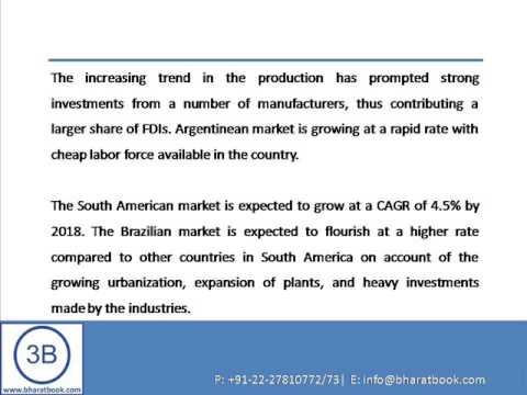 Bharat Book Presents : South American Automotive Production Outlook to 2018