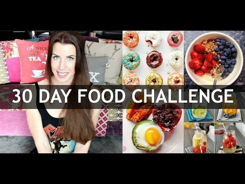 30 DAY HEALTHY FOOD CHALLENGE | CARLYROWENA