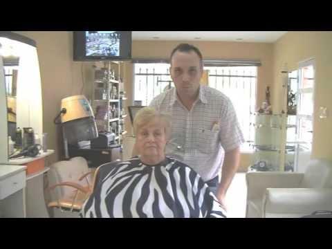 Corte de Cabello para Mujer Tercera Edad - Haircut Elderly Woman