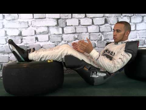 F1 2013 - Mercedes AMG -  The F1 seat and the perfect driving position (Lewis Hamilton)