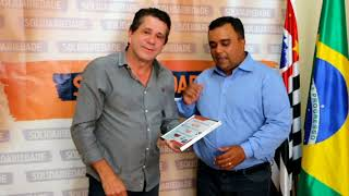 David Martins recebe o vereador de S.B. do Campo, Ivan Silva