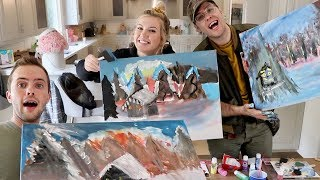 We Tried Following a Bob Ross Painting Tutorial