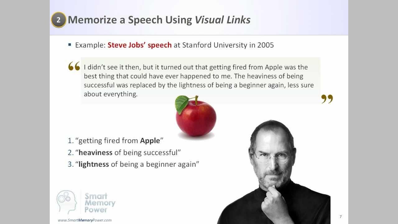How to memorize an essay for a speech