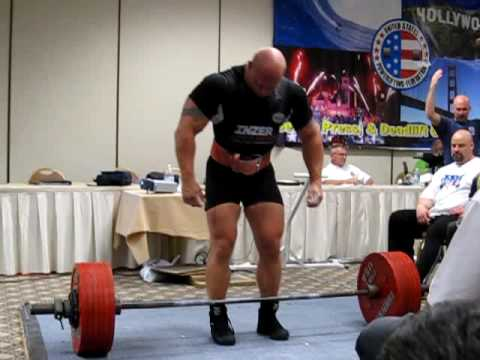 Jens Grau at the '09 USPF Nationals: 733-lb Deadlift with Bicep Tear