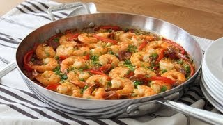 Quick & Easy Paella - Oven Baked Sausage & Shrimp Paella Recipe