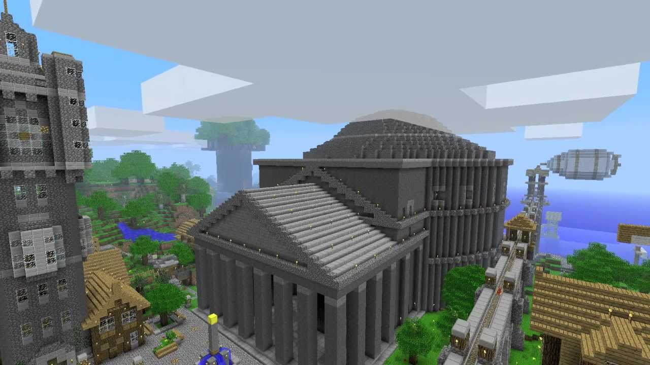 The Pantheon Minecraft Roman Temple By Tombuilder Youtube