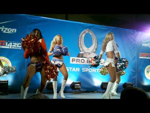 Droid X (citement) - 2011 Pro Bowl Cheerleaders - Pro Bowl All-Star Block Party In Waikiki