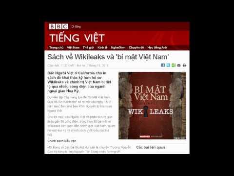 07-11-2011 - BBC Vietnamese - Sách về Wikileaks và 'bí mật Việt Nam'