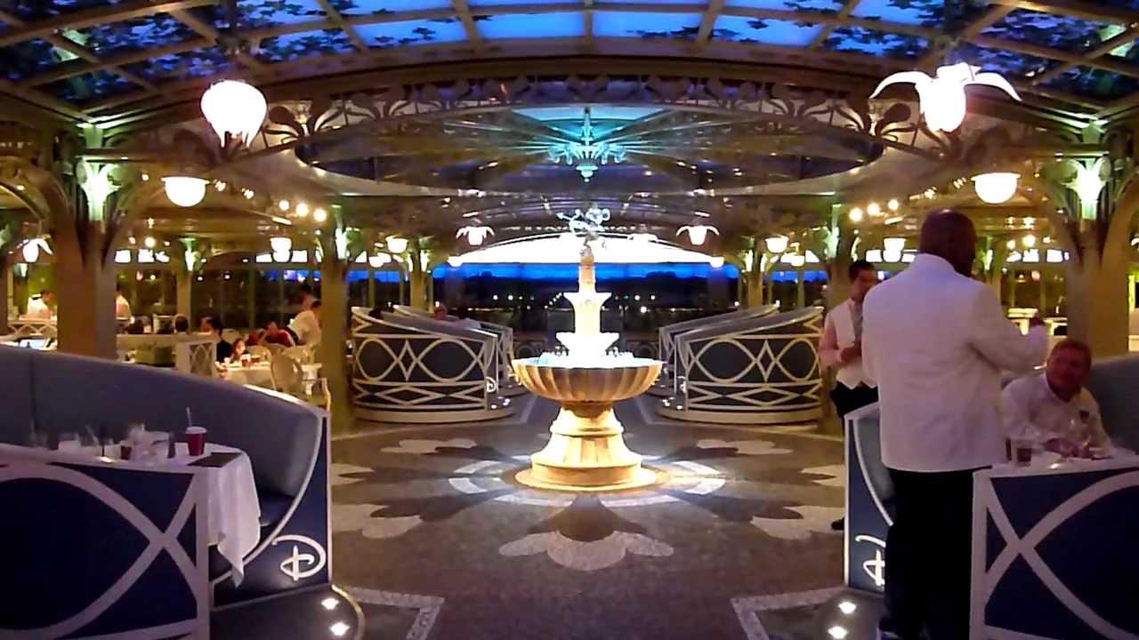 Enchanted Garden Restaurant On The Disney Dream Youtube
