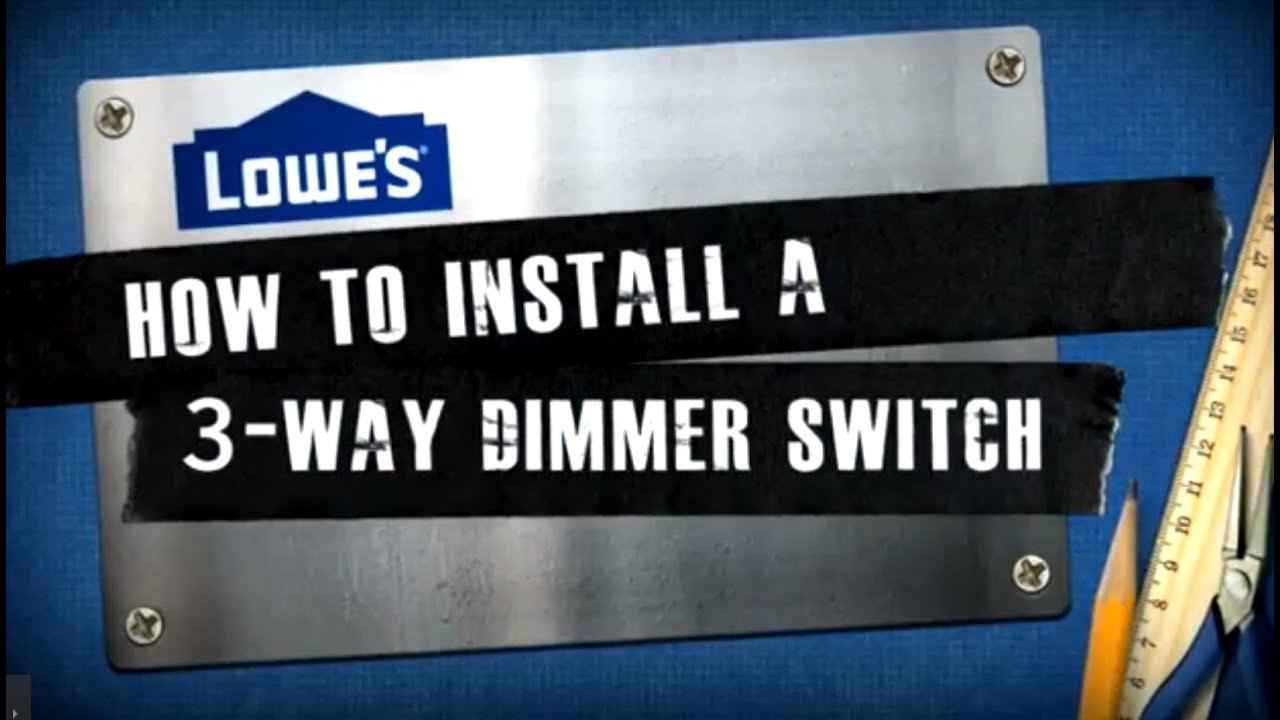 how to install a 3 way dimmer switch youtube. Black Bedroom Furniture Sets. Home Design Ideas