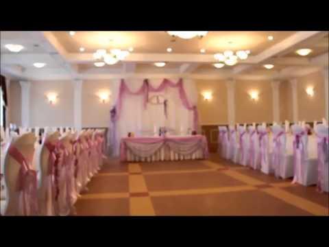 Бело-сиреневое оформление свадебного зала, как это происходит?