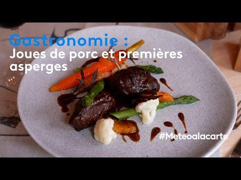 Gastronomie : joues de porc et premières asperges