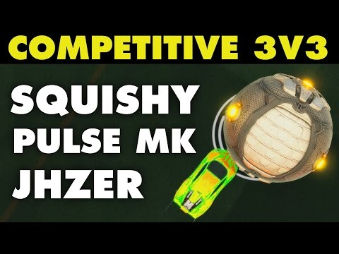 Squishy Muffinz Monitor : Rocket League JHZER, Pulse MK & Squishy Muffinz (Competitive 3v3)