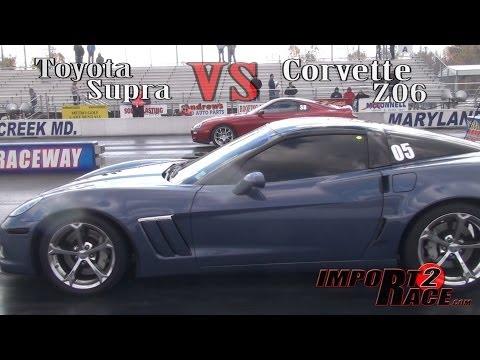 Toyota Supra vs Corvette Z06