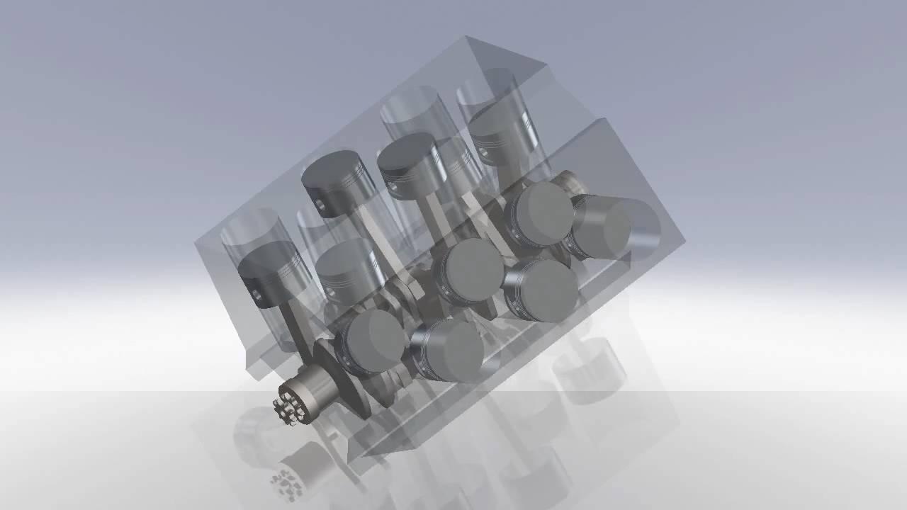 w12 motor animation
