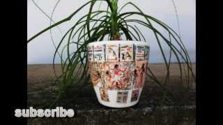 [Flower pots, plastic, full color printed]