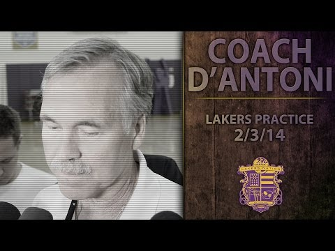 Lakers Practice: Coach D'Antoni Says Farmar, Nash, and Blake Are Ready To Go.